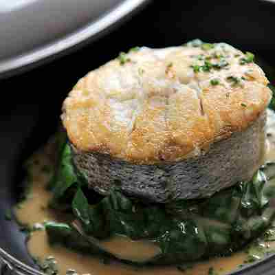 Pan fried Cornish hake with Rodda's clotted cream and cider sauce.jpg