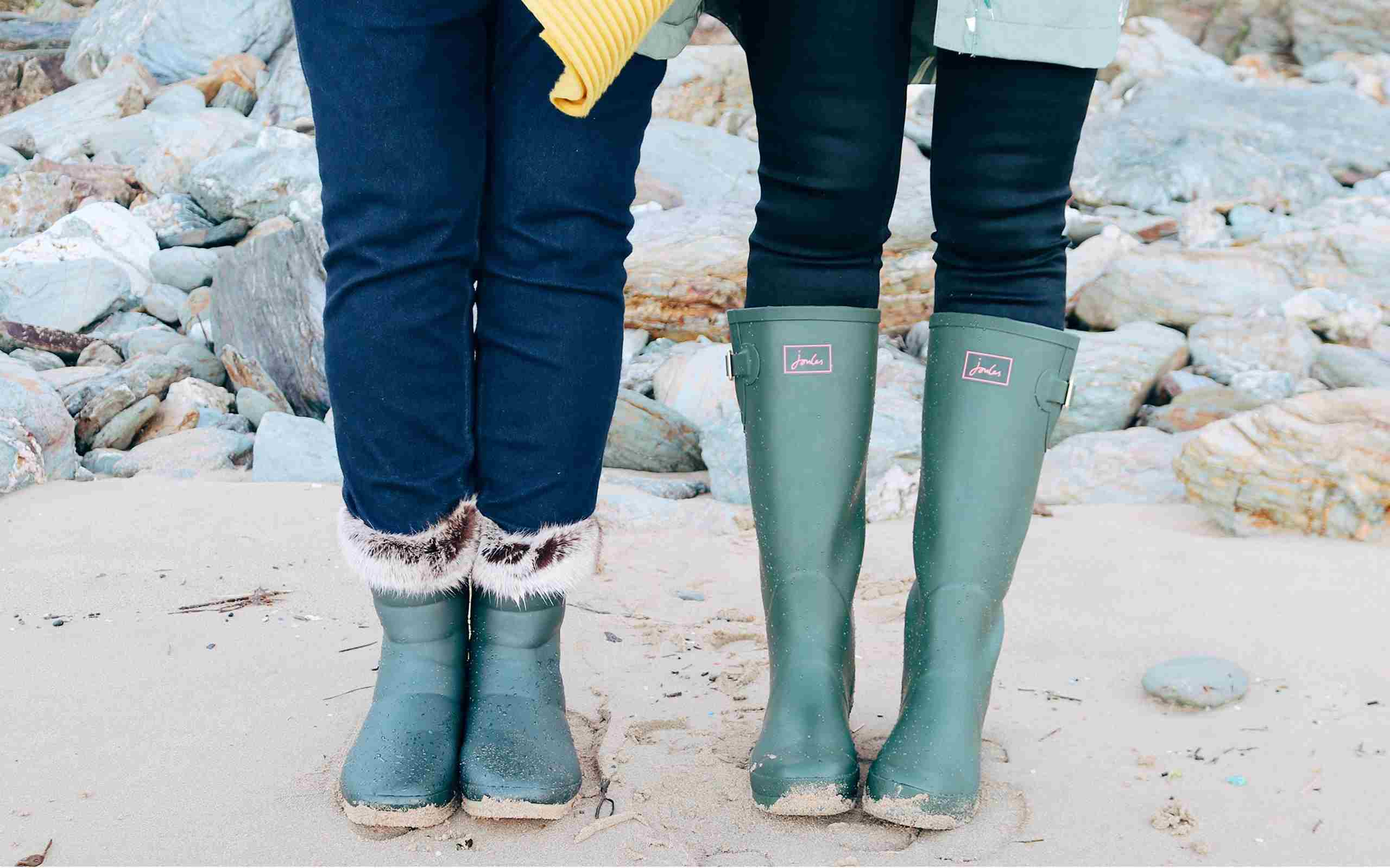 Joules Wellies On The Beach