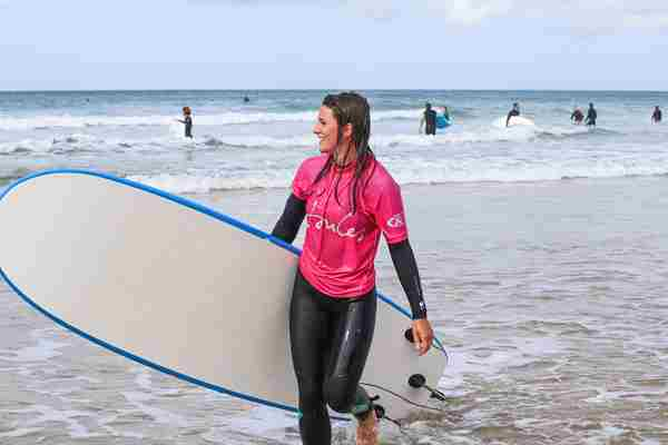 Learning To Surf With With Extreme Academy At Watergate Bay