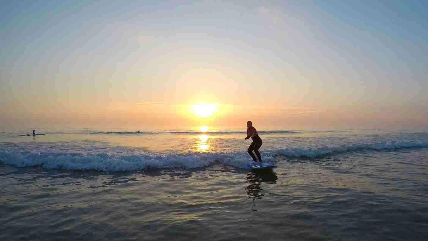 Sunset Surf Lesson