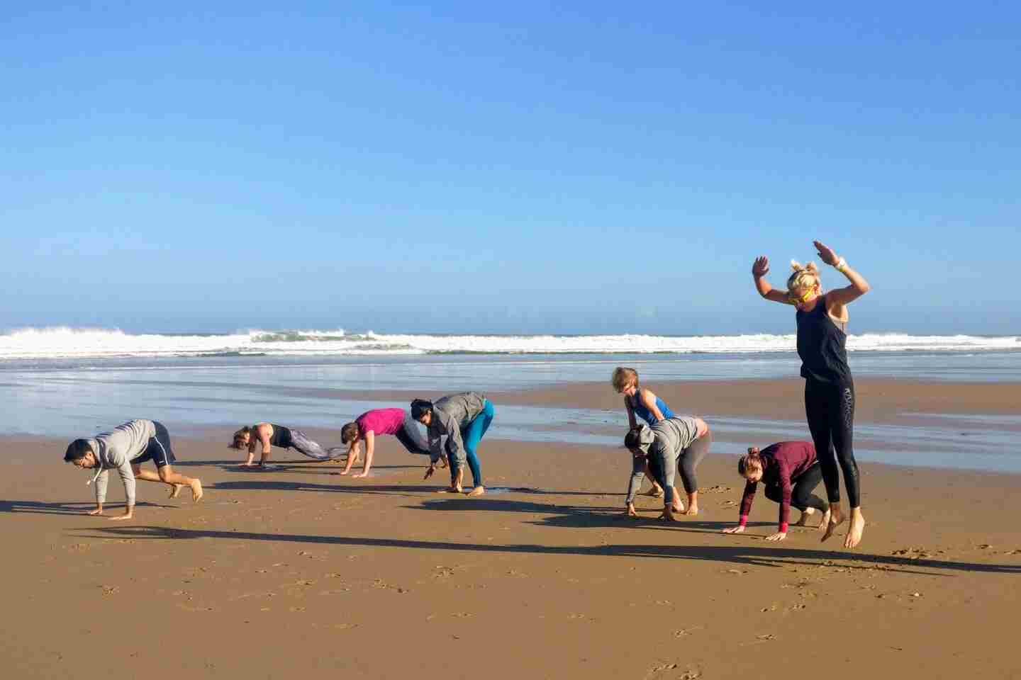 Beach Fitness Cornwall Stretching