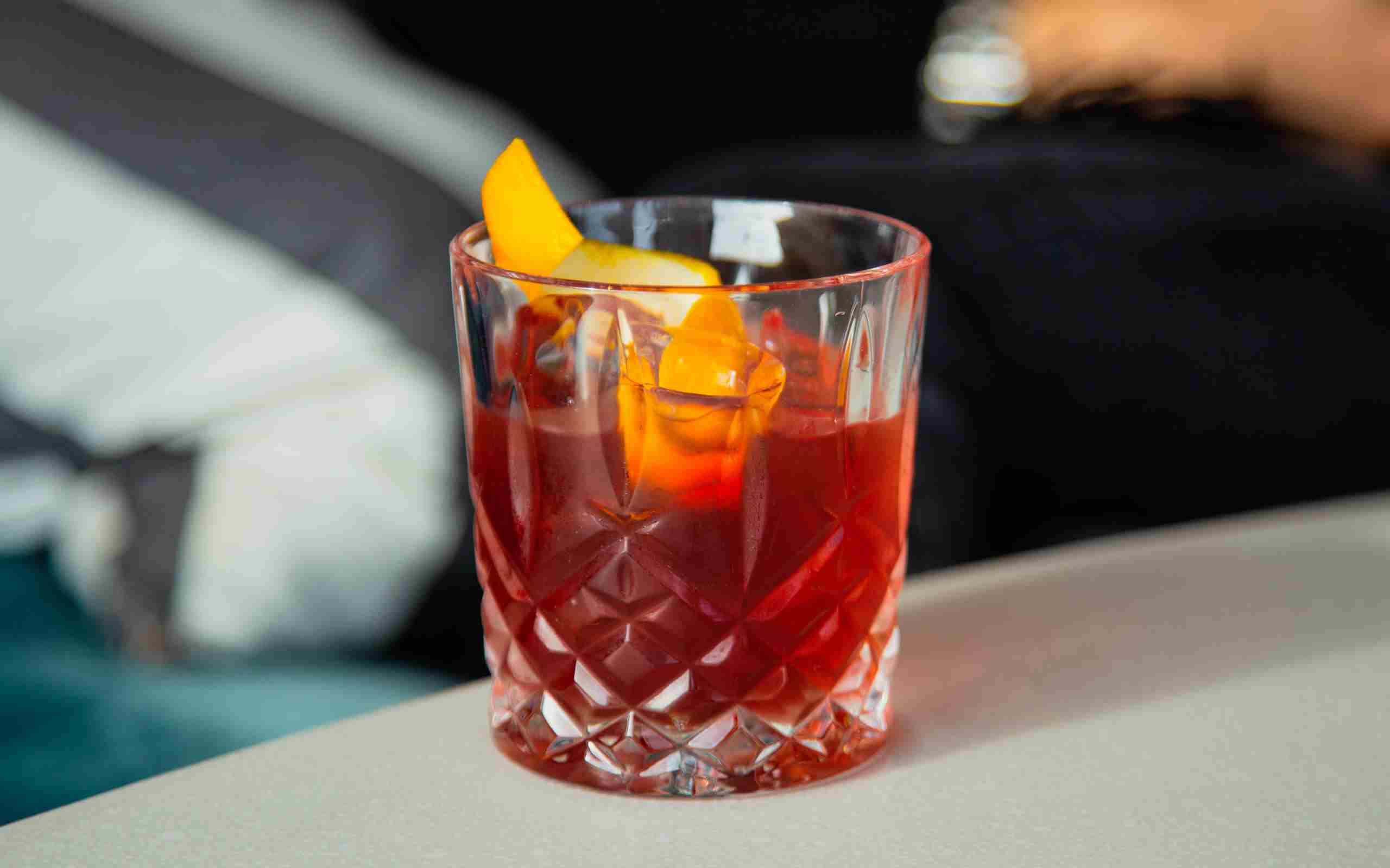 Living Space Sloe Gin Negroni