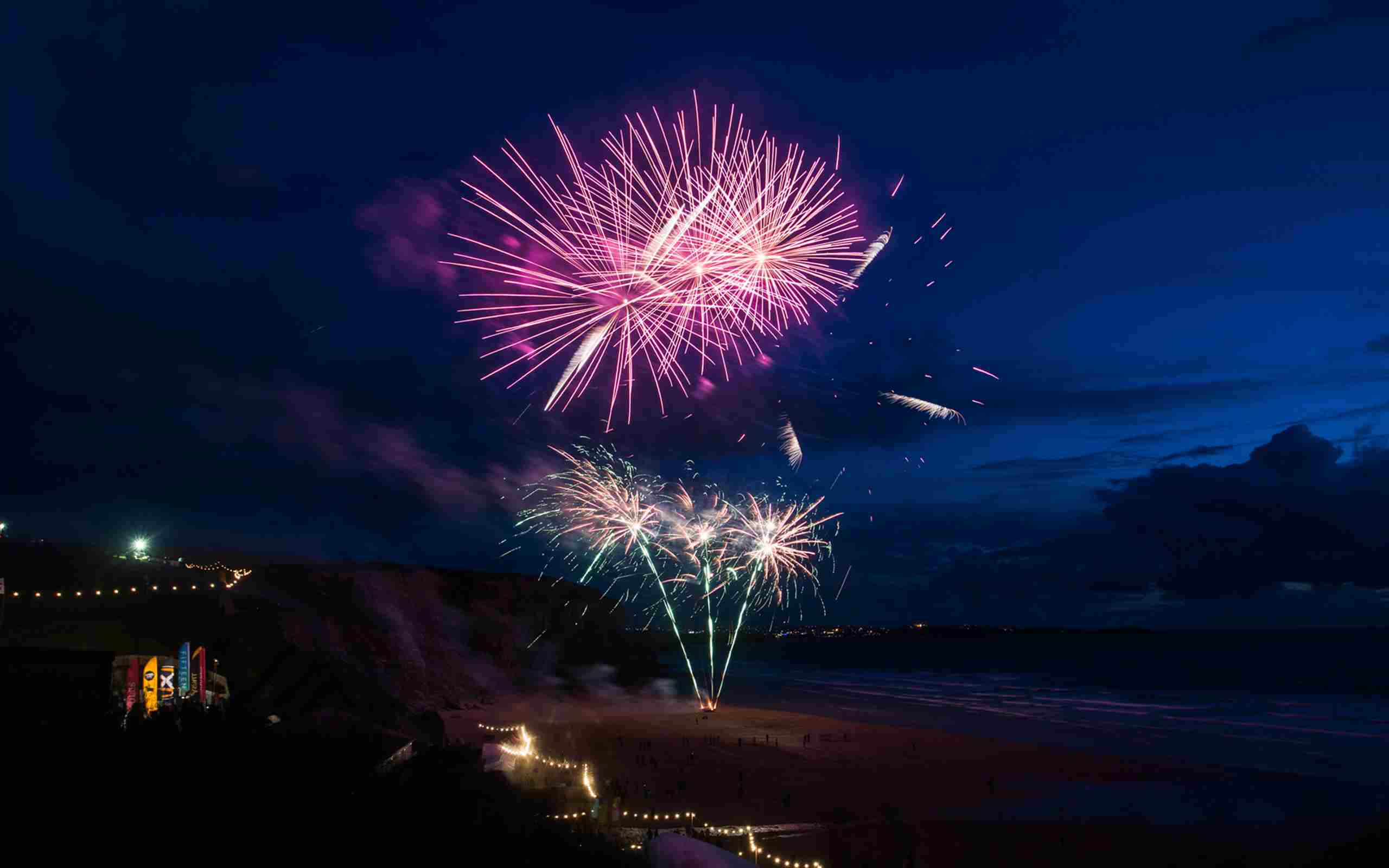 Polo On The Beach Watergate Bay Fireworks