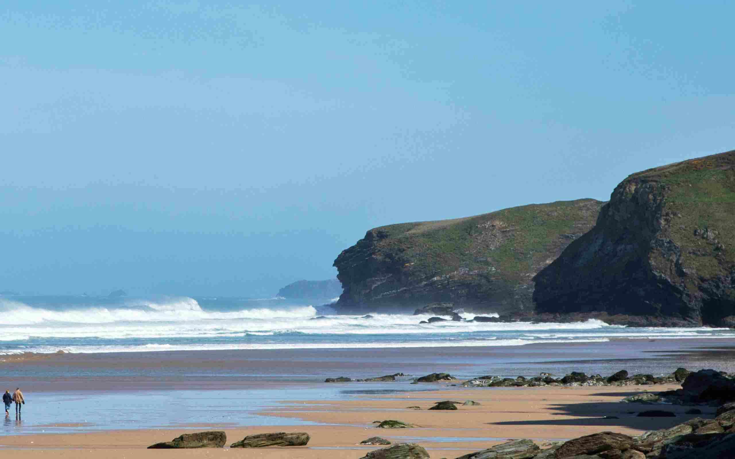 Watergate Bay Beach December